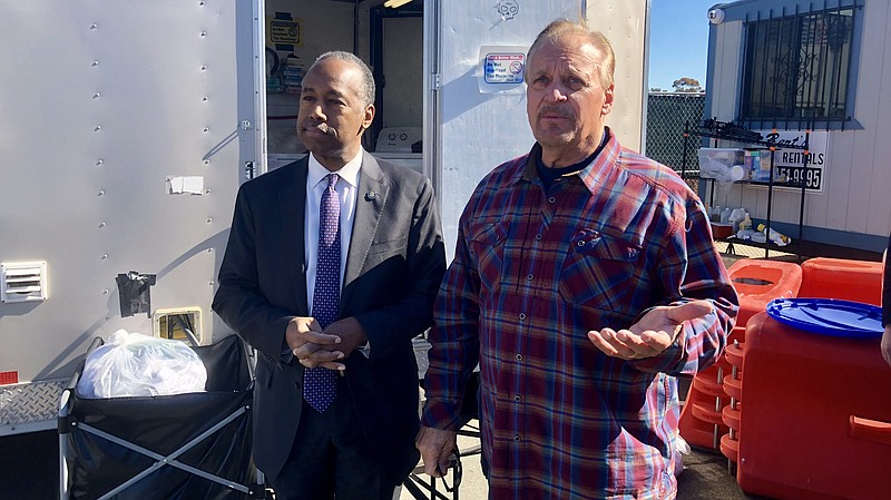 U.S Department of Housing and Urban Development Secretary Ben Carson tours th...