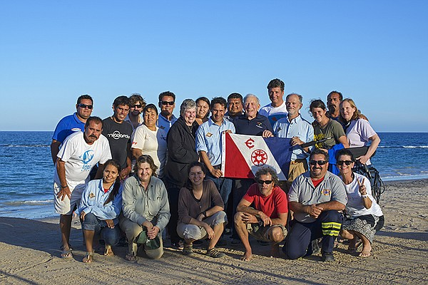 Team at the expedition in Cabo Pulmo National Marine Park...
