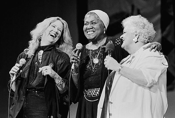 Holly Near, Odetta and Ronnie Gilbert onstage Redwood Rec...