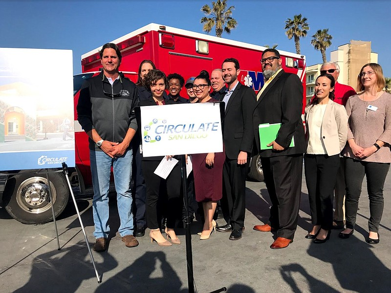 Officials and members of Circulate San Diego release a new report on traffic ...