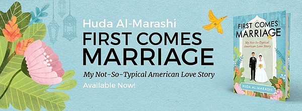 Huda Al-Marashi, author of First Comes Marriage,