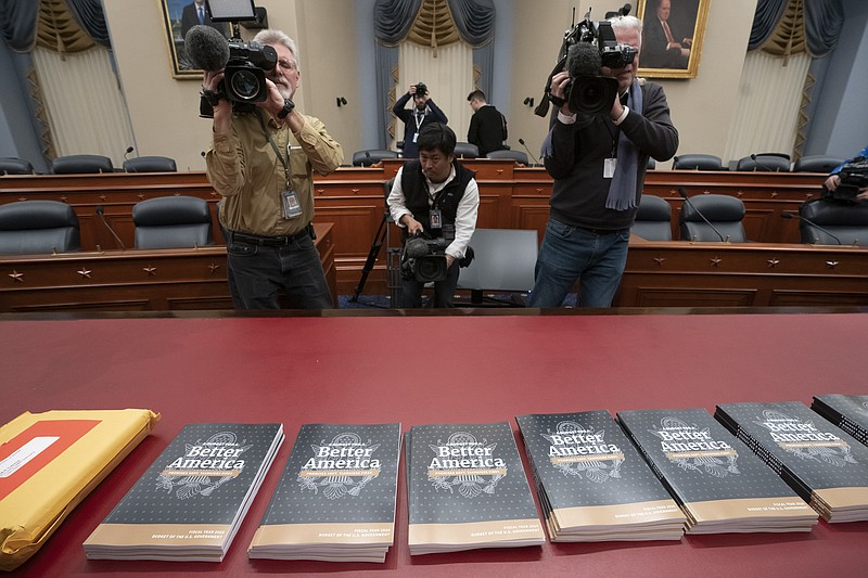 President Donald Trump's 2020 budget outline arrives on Capitol Hill at the H...