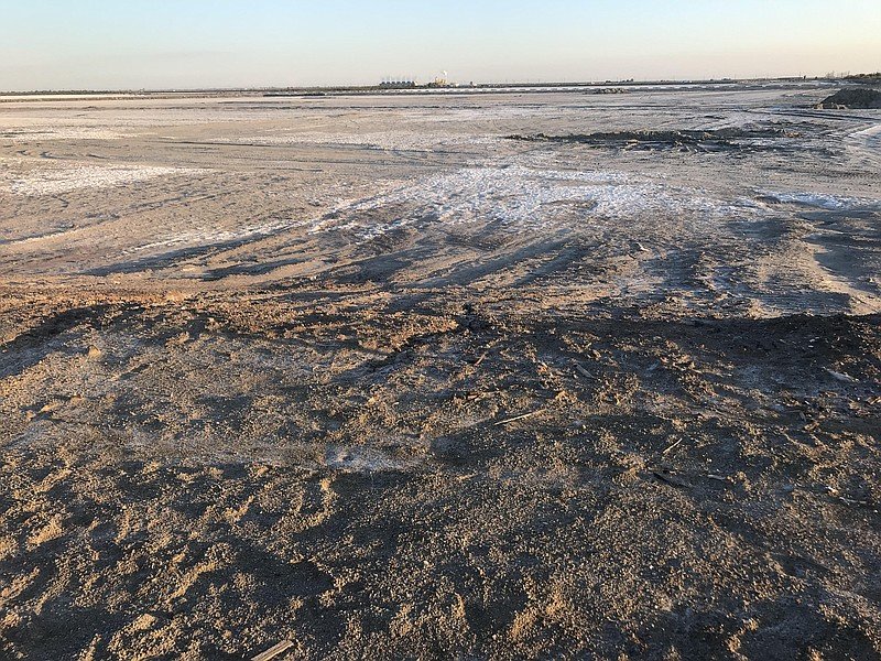 Salt encrusted Red Hill Bay near the Imperial valley's Salton Sea on Feb. 25,...
