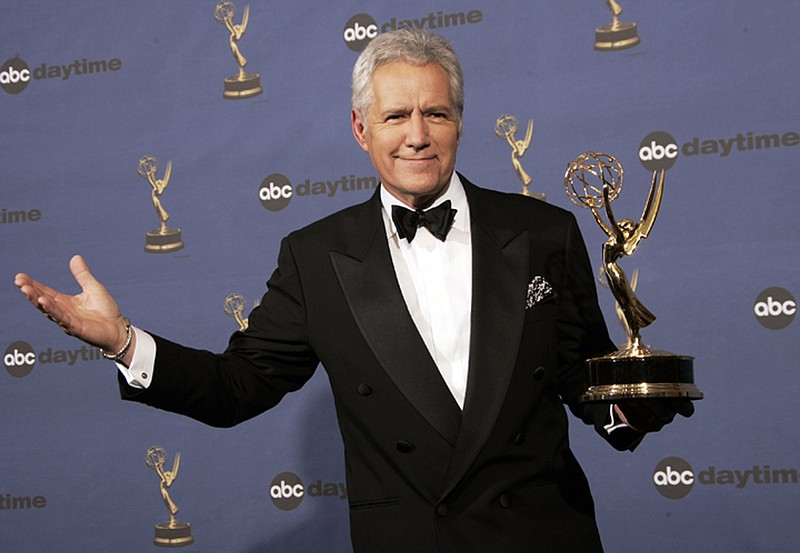 Alex Trebek holds the award for outstanding game show host, for his work on