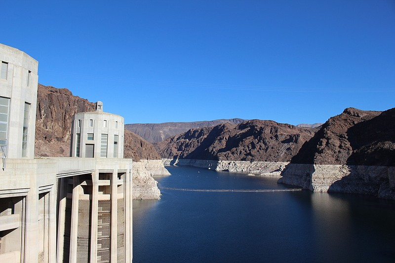 Lake Mead, which is located just outside Las Vegas, Nevada and serves as the ...