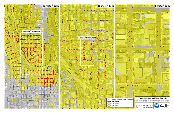 Three maps created by Justin Palmer of AJP Consulting sho...