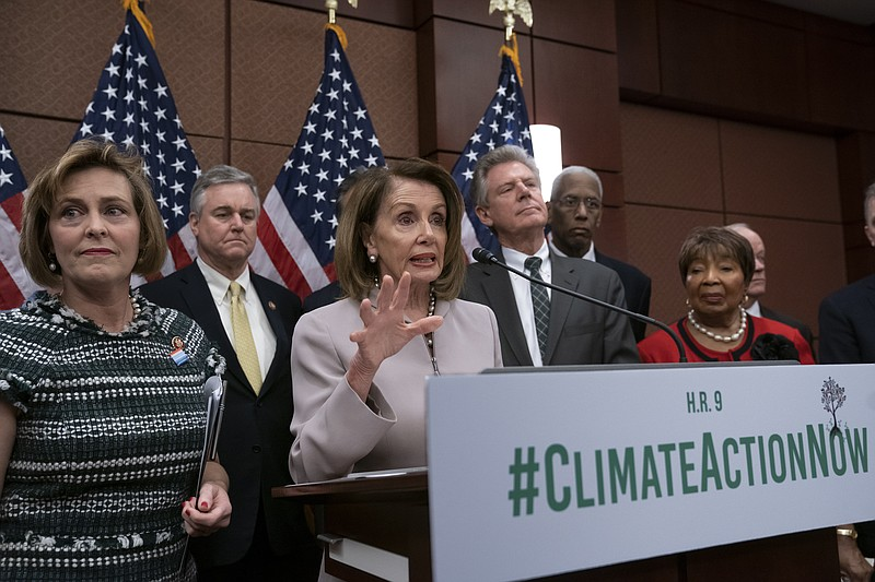 House Speaker Nancy Pelosi, D-Calif., turns her party's attention to the clim...