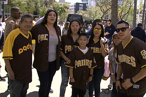 Padres Fans Hopeful About New Season At Opening Day Block...