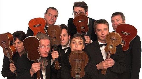 A promotional photo of the Ukulele Orchestra of Great Bri...