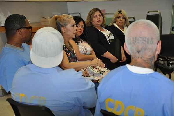 Mothers with a Message speak to inmates at Centinela Stat...