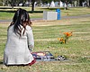 Bevelynn Bravo visits the grave of her son on N...