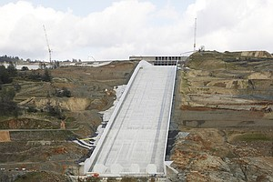 Photo for Water Flows On California Dam's Spillway After 2017 Crisis