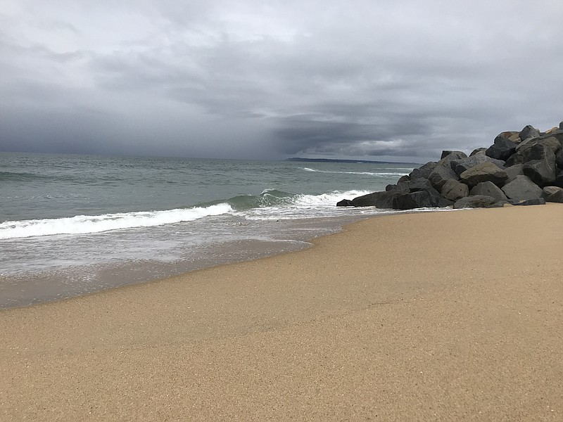 The view from Imperial Beach looking north from SeaCoast drive on a stormy mo...
