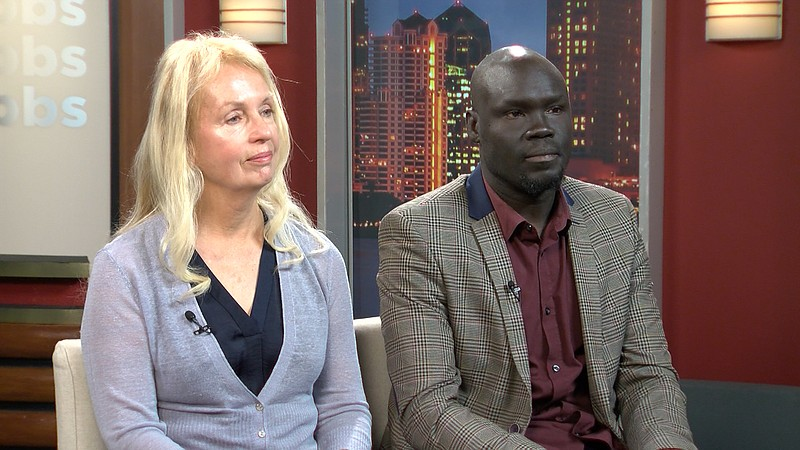 Authors Judy A. Bernstein and Alephonsion Deng sit down with KPBS Evening Edi...