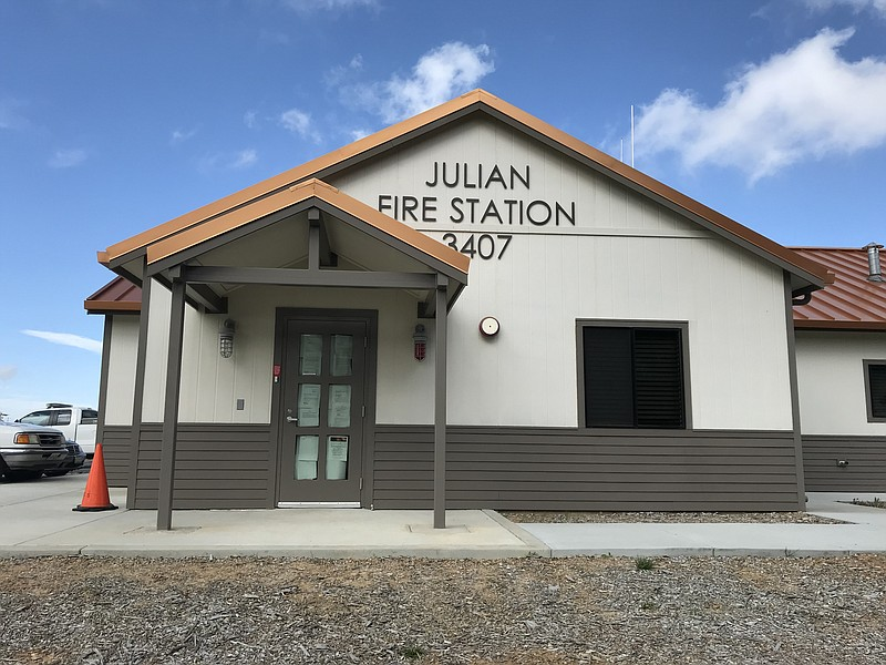 The exterior of Julian Fire Station 56 on April 9, 2019.