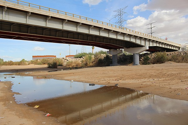 The bridge at San Luis Rio Colorado is pictured in this u...