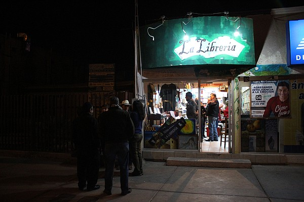 Writers gather at La Libreria in downtown San Luis Rio Co...