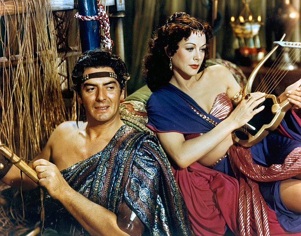 Victor Mature and Hedy Lamarr star as