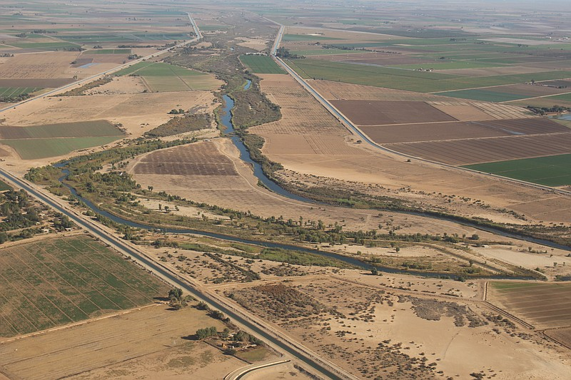 Restoration site Chausse, which is meant to replicate a bend in the Colorado ...