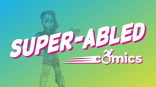 The logo for Super-Abled Comics is pictured in this undat...