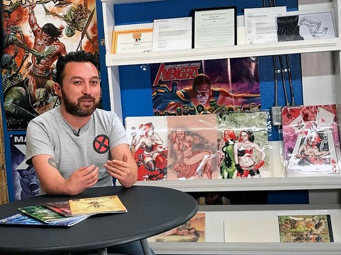 Super-Abled Comics writer and creator Travis Rivas at Southern California Com...