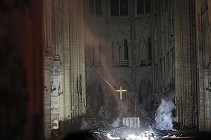 Photo for Macron Wants Fire-Ravaged Notre Dame Rebuilt Within 5 Years