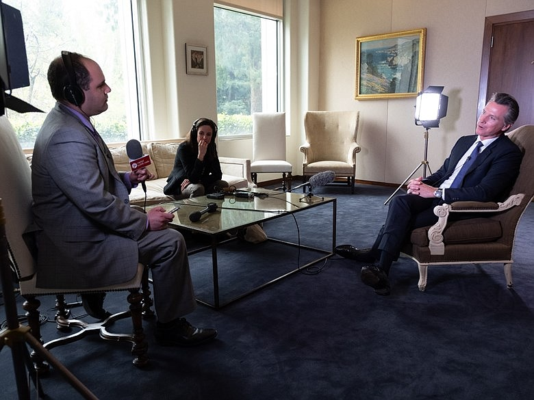 Interview Gavin Newsom Reflects On First 100 Days As