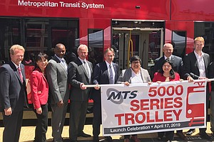 MTS Unveils Its Newest Trolley Car