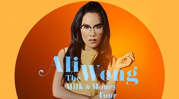 A 2019 promotional poster for Ali Wong's The Milk & Money...