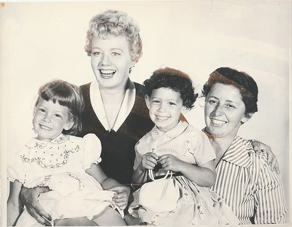 Family photo of actress Shelley Winters with her daughter...
