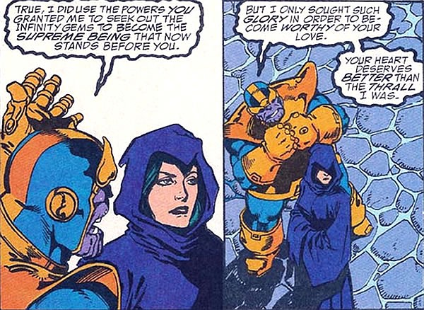 Thanos and Lady Death in the Marvel Comic