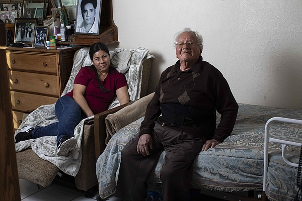 Francisco Rios, 91, sits in his own room in his daughter ...