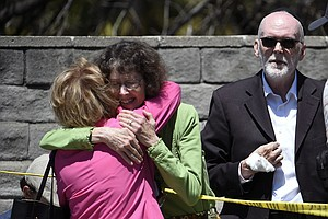 Photo for Faith Leaders And Politicians Condemn Act Of 'Hate' In Poway Deadly Synagogue...