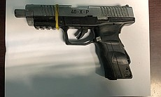 A Umarex 40XP handgun seized by Mexican authori...
