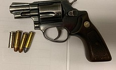 A Taurus revolver seized by Mexican authorities...