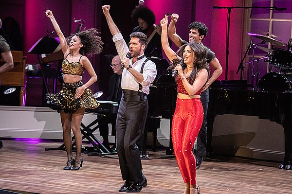 "The cast of the musical ""On Your Feet!"" performs at"