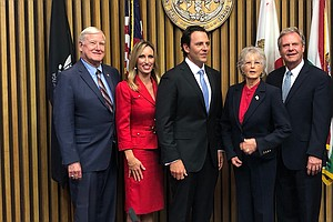 Photo for County Supervisors, Officials Sworn In During Ceremony