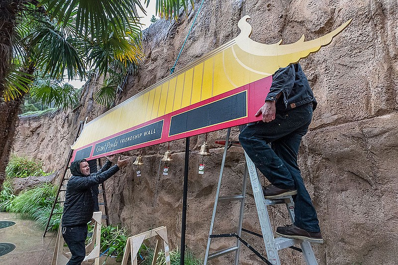 San Diego Zoo's popular red and gold Giant Panda Friendship Wall was dismantl...