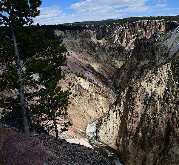 The Grand Canyon of the Yellowstone, one of the natural w...