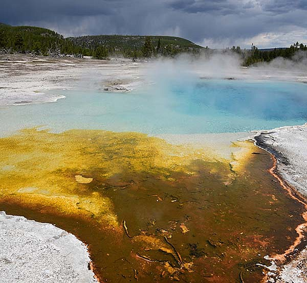 Sapphire Pool in Biscuit Basin, one of the natural wonder...