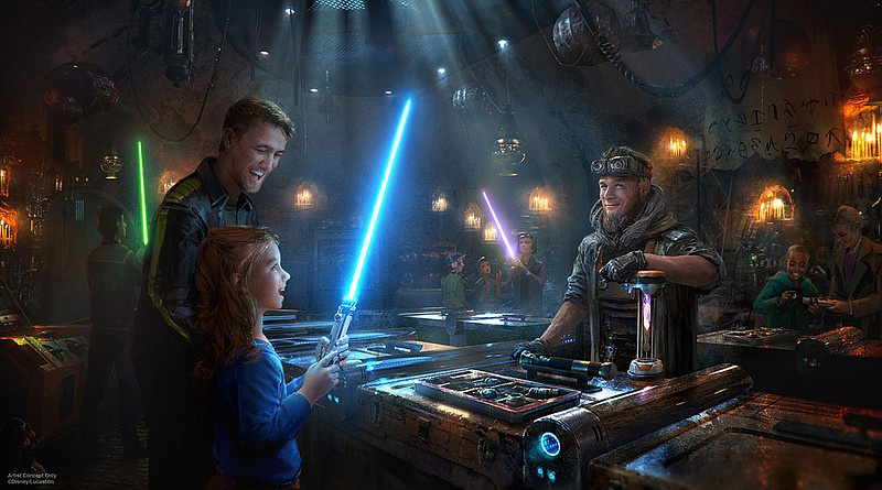 Star Wars: Galaxy's Edge in this undated artist rendering will open May 31, 2...