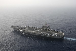 Photo for USS Abraham Lincoln Rushes To Middle East Over Unspecified Iran Threats
