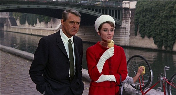 Cary Grant and Audrey Hepburn star in the comedy-thriller...
