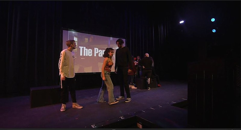 San Diego School of Creative and Performing Arts students perform the play Tr...