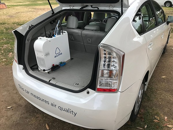 A Prius with special gear in the trunk that allows it to ...