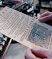 """An example of a negative that could be used to create a photopolymer plate like the one used to forge Galileo's """"Sidereus Nuncius."""""""