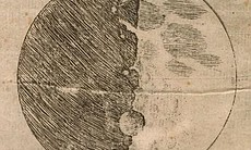 "Galileo's sketch of the moon from ""Sidereus Nun..."
