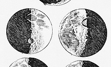 Galileo's sketches of the moon.