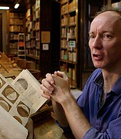 Historian Nick Wilding at the National Central Library of Florence in Florence, Italy.