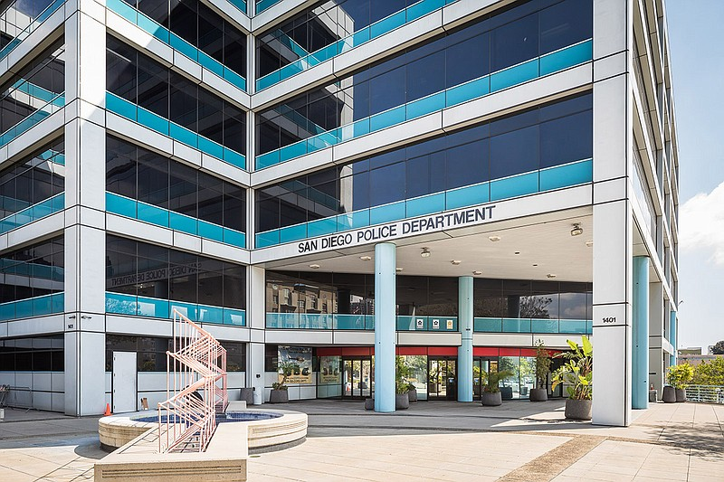 The San Diego Police Department headquarters is shown in this updated photo.